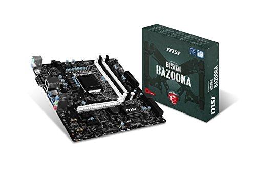 MSI Gaming Intel Skylake B150 LGA 1151 DDR4 USB 3.1 Micro ATX Motherboard (B150M Bazooka) (Renewed) ()