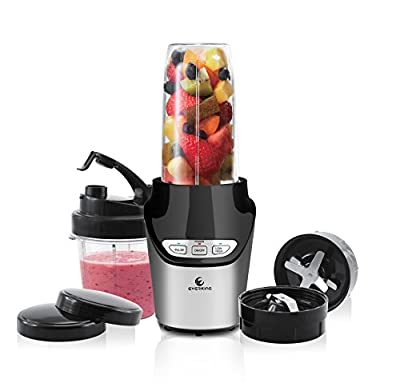EverKing High-Speed Food Extractor Juicer Smoothies Maker Nutri Power Blender Mixer 8 Piece Set Food Fruit Processor - 1000 Watt