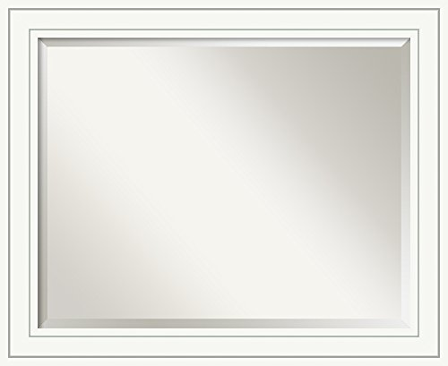 Craftsman Style Frames - Bathroom Mirror Large, Craftsman White: Outer Size 33 x 27