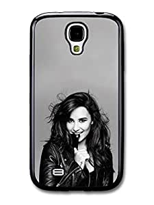 AMAF ? Accessories Demi Lovato Smiling Black & White Singer Popstar case for Samsung Galaxy S4