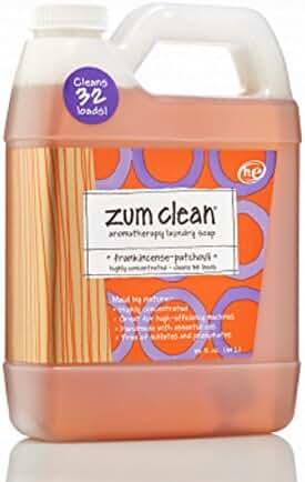 Indigo Wild Zum Clean Laundry Soap, Frankincense & Patchouli, 32 Fluid Ounce