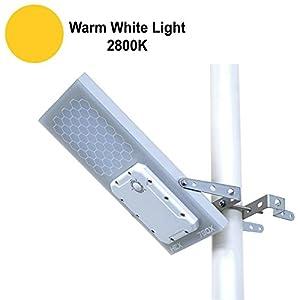 "Solar Street Light // HEX 780X Solar Street Light (Warm White LED) // 3-Level Power Setting // Fits Max Pole Diameter 2.5"""