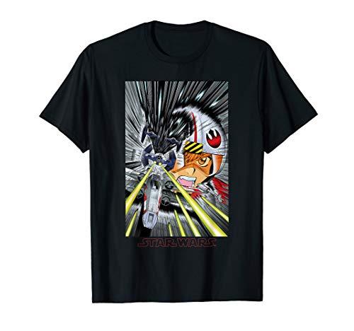 Star Wars X-Wing TIE Fighter Fight Manga Pilot T-Shirt