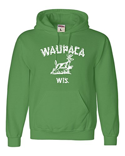 Go All Out X-Large Irish Green Adult Waupaca Wisconsin Sweatshirt Hoodie