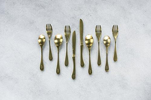 KNORK 551 Original Titanium Coated Flatware Set 20 Piece Brass Gold
