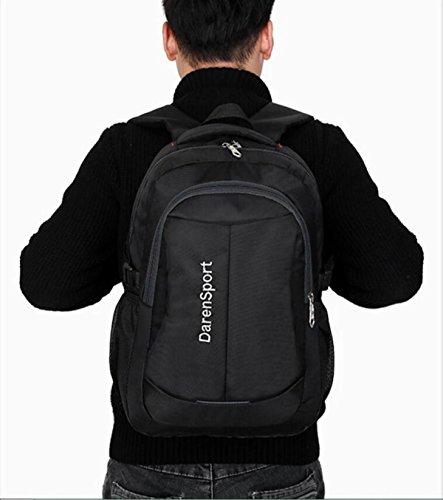 LQABW LQABW Neue Reise Casual Computer Tasche Wasserdichte Nylon Outdoor Sports Rucksack Student Rucksack Black