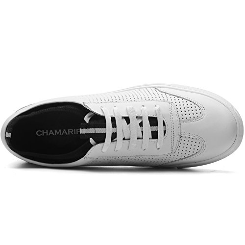 CHAMARIPA Elevator Shoes Mens Breathable Mesh Leather Sneakers Skate Shoes Height Increasing Shoes… White04 visa payment for sale sneakernews cheap price geniue stockist sale online Grey outlet store online free shipping deals Y18wti
