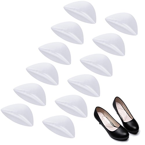 Madholly 6 Pairs Arch Support Gel Insole for Flat Feet, Transparent Adhesive Arch Pad for Women and Men