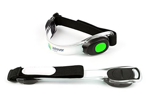 Fashionable LED Safety Lights Armband for Running by Iotrevor Fitness (set of 2)