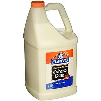 Elmer's E340NRSS School Glue Jar, Washable, 1 gal Capacity, White