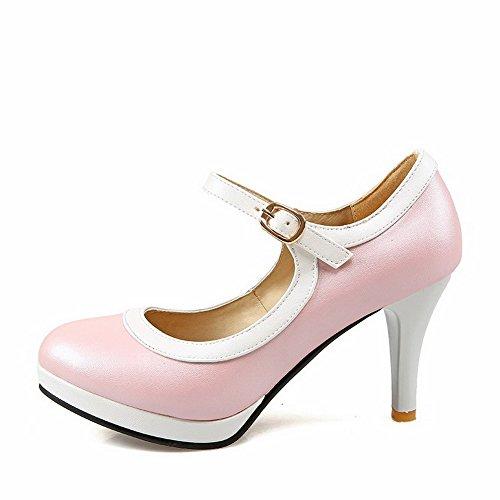 Allhqfashion Donna Tacco A Spillo Tacco Alto Scarpe Col Tacco Alto Colore Rosa