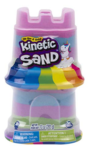 Kinetic Sand, 9-Pack Rainbow Unicorn Multi-Color Double Castle Containers, for Kids Aged 3 and Up