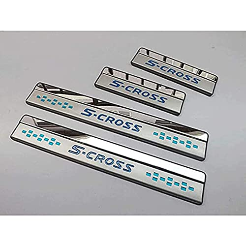4Pcs Auto Roestvrij Staal Instaplijsten Kick Platen, voor Suzuki Sx4 S-Cross S Protector Plaat Pedaal Buitenste Platen…