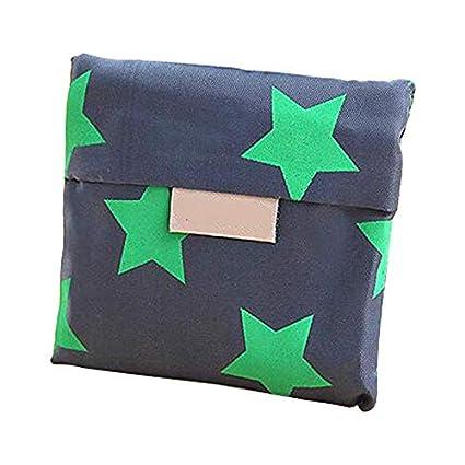 Westeng Bolsa de Compras Reutilizable Bolsas de Plegable para Exteriores Dise/ño Simple Bolsas de Frutas y Vegetales Size 35 53CM Estrella