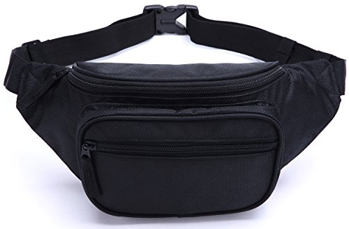 MIER 2 Pocket Sporty Running/Biking/Cycling Fanny Pack Travel Pouch
