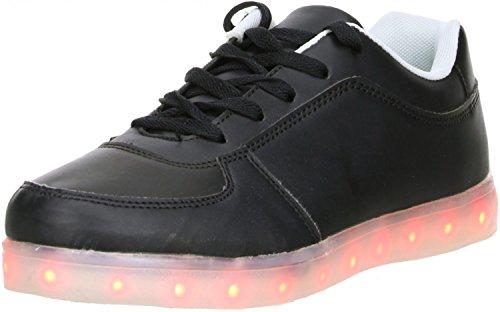 DT New York Mädchen Damen LED Licht Farbwechsel Sneaker weiß/grün Schwarz