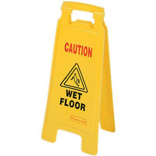 Rubbermaid Commercial 2-Sided Floor Safety Sign with