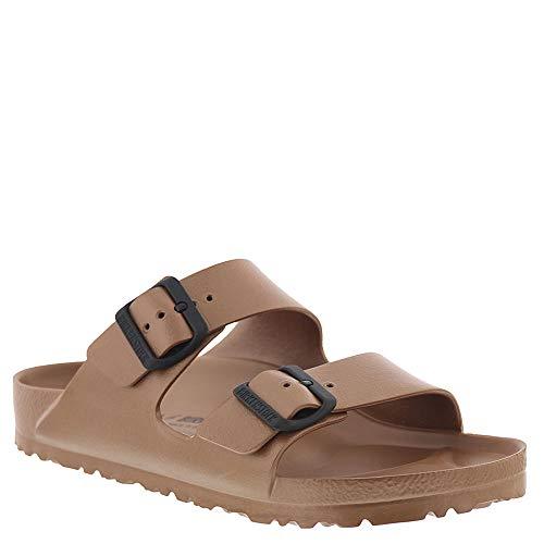 Birkenstock Unisex Arizona EVA Sandal, Metallic Copper, 38 Narrow/7-7.5 Women