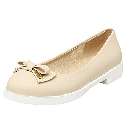 Womens Beige Carolbar Bows Shoes Flats Sweet Lolita Party Cute Loafers Tzz1xw