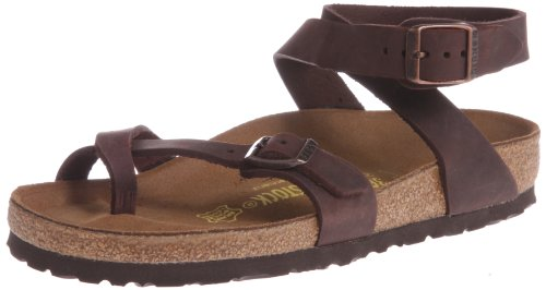Birkenstock Women's Yara Leather Ankle-Strap Sandal,Habana,39 EU/8 M US by Birkenstock