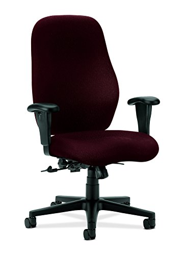 - Hon High-Back Task Chair with Arms, 30-1/2 by 39 by 45-Inch, Wine