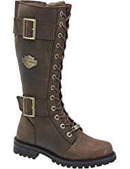 Harley-Davidson Womens Belhaven Knee-High Motorcycle Boots. D87083 (Brown, 9)