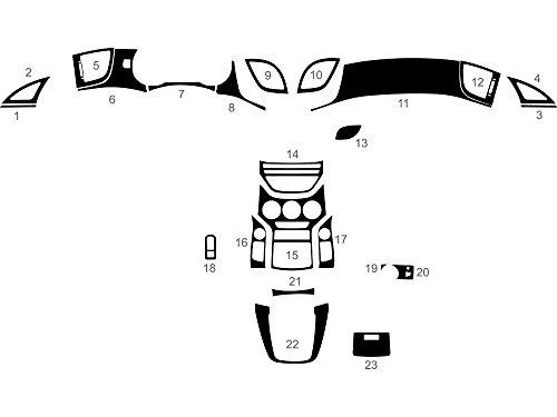 Rdash Dash Kit Decal Trim for Hyundai Genesis 2013-2015 (Coupe) - Carbon Fiber 4D (Black)