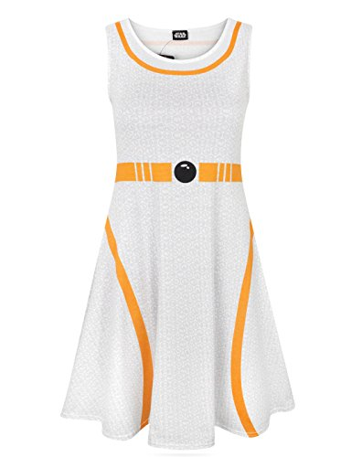 Women's Star Wars Costumes Uk (Star Wars BB-8 Women's Cosplay Costume Dress (M))