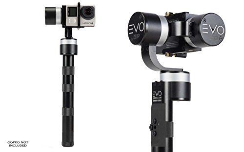 EVO GP 3 Axis Handheld Gimbal for GoPro Hero 3, Hero 3+, Hero 4, CNC Alloy Construction, USA 1 Year Warranty