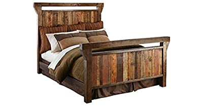 Barnwood Wood Bed Unique Rustic Bedroom Furniture - Handcrafted in The USA (Choose Size)