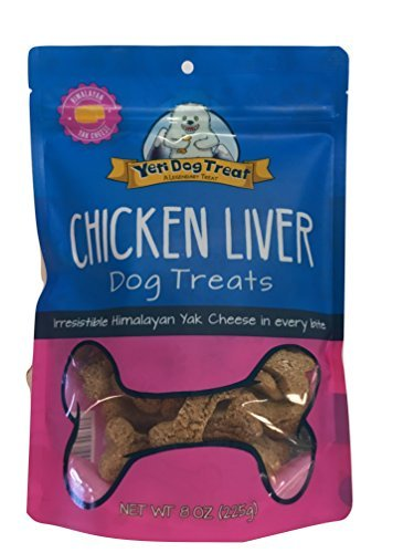 Yeti Dog Treats - Chicken Liver Flavor (8 Ounce Bag)