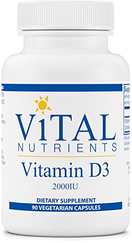 Vital Nutrients - Vitamin D3 2,000 IU - Supports Calcium Absorption and Bone Health - 90 Capsules (Vital Vitamin C)