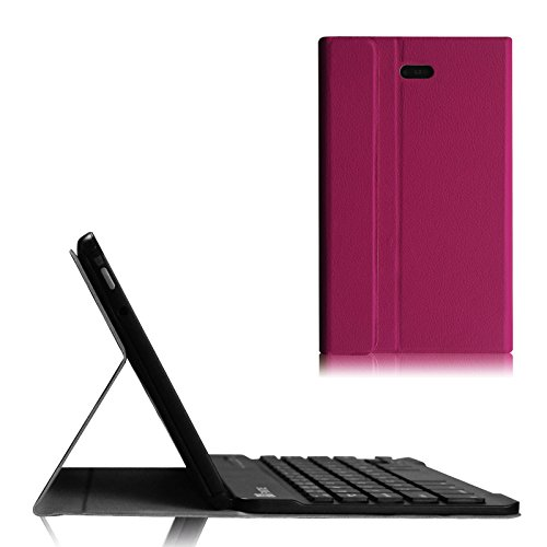 Fintie Blade X1 Dell Venue 8 Pro Keyboard Case - Ultra Slim Shell Stand Cover with Bluetooth Keyboard for Dell Venue 8 Pro 5000 Series / New Venue 8 Pro 3000 Series (2014) Windows 8.1 Tablet - Purple