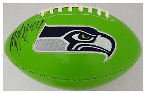 Marshawn Lynch Autographed Signed Green Logo Football Seattle Seahawks ML Holo #20991 - Certified Authentic ()