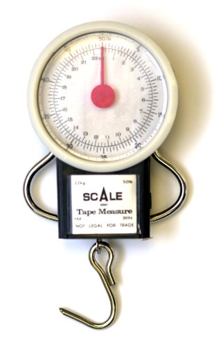 Deluxe Dial Scale - Eagle Claw 50-Pound Dial Scale with Tape Measure