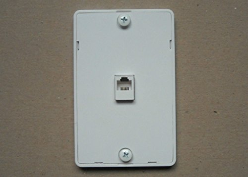 TEL PHONE 4C JACK MODULAR HANGING WALL MOUNT PLASTIC COVER PLATE - (Wall Mount Phone Jacks)