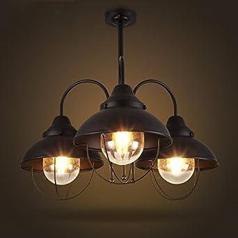 baycheer hl410583 industrial retro vintage style 3 light 1. Black Bedroom Furniture Sets. Home Design Ideas