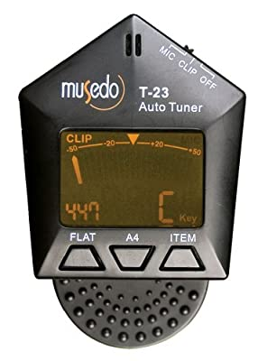 Musedo Clip-On Chromatic Auto-Tuner, Black from The Music Link (AXL)