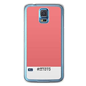 Pantone Colors Samsung Galaxy S5 Transparent Edge Case - ff7373