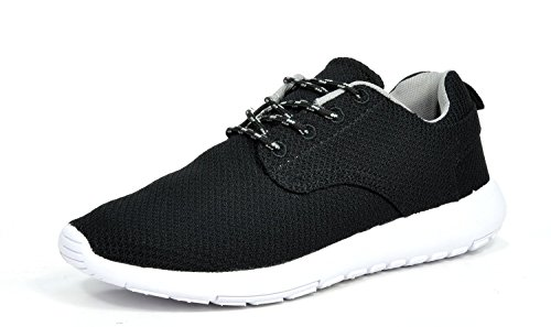 Janstom-Mens-Light-Weight-Casual-Shoes-Sneakers-Black-and-White-9-DM-43