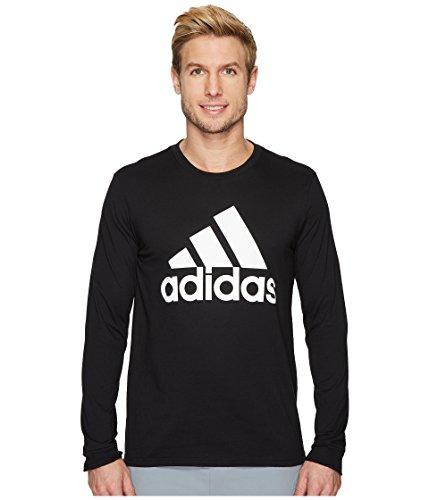 adidas Men's Badge of Sport Classic long-sleeve Tee, Black/White, Medium