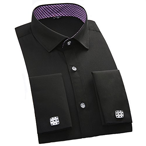Alimens-Gentle-French-Cuff-Slim-Fit-Dress-Shirts-Cufflink-Included