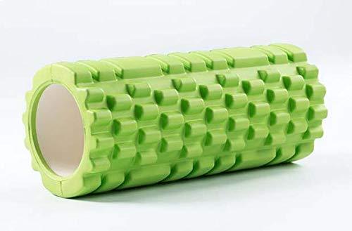 Schaumwalze Für Tiefe Muskel Massage, Um Die Genesung Ultra Leicht Hohl Kern Muskel Walze Für Home-Gym Pilates Yoga Atheletes Auslöser Punkt Walze 14 X 33 cm,Grün