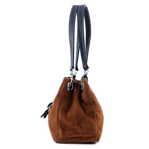 ital Leather Brown ital Brown TL02 TL02 Women's Handbag qfpCwBpr7x