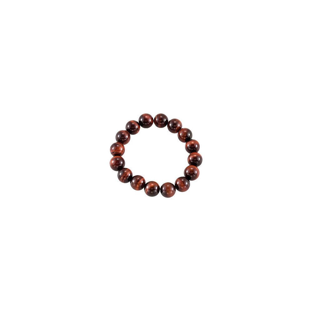 Genuine Red Tiger Eye Stretch Bracelet 12.00 X 12.00 MM with 6.50 INCH by LoveBrightJewelry