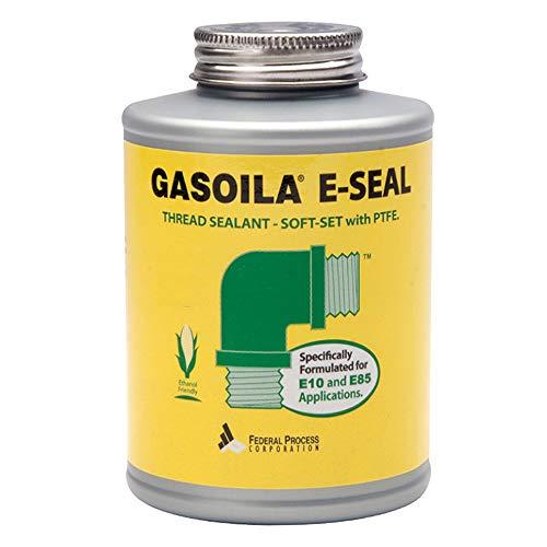 Gasoila E-Seal Pipe Thread Sealant with PTFE Paste, Non Toxic, -100 to 600 Degree F, 1/4 Pint Brush (Best Pipe Thread Sealant)