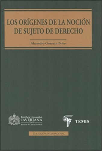 Orígenes de la noción de sujeto de derecho, Los: ALEJANDRO GUZMAN BRITO: 9789583509124: Amazon.com: Books