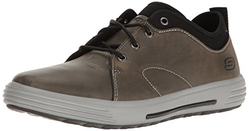 Skechers Men's Porter Elden Oxford,Charcoal,13 M US