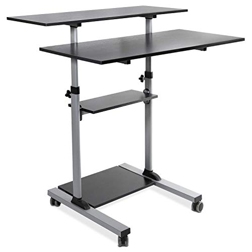 - Mount-It! Mobile Standing Desk | Height Adjustable Rolling Desk with 40