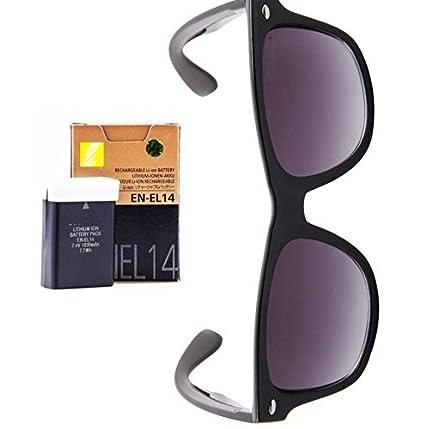 D3200 D5200 D5300Free Sunglasses D5100 For El14 D3100 En D3300 Battery Nikon OXuZPki